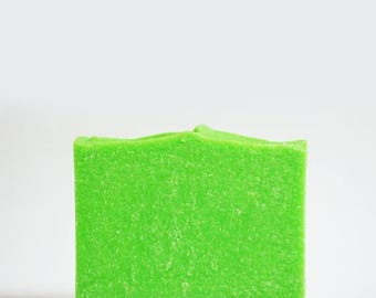 25% OFF CLEARANCE SALE Lime Margarita Soap | Citrus Scented Salt Bar, Palm Free Body Wash, Vegan, Handmade, Cold Process, Artisan, Homemade,