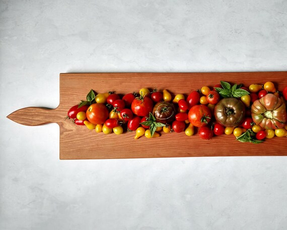 42 Inch- Extra Large Wooden Serving Platter- Cheese Board- in Cherry- by Red Maple Run- Cutting Board- Gift for Foodie