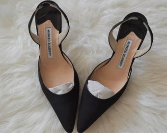 Vintage Manolo Blahnik sling back pumps
