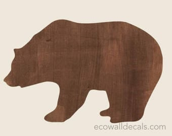 Bear Wall Decals - Bear Watercolor Fabric Wall Decals