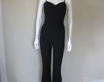 NOS NWT 90s Black Jumpsuit