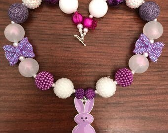Easter Peeps inspired Bubble Gum Necklace - 3 Colors (Child/Toddler).