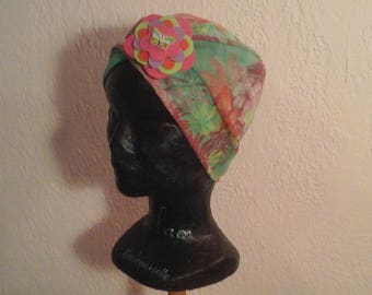Reversible chemo hat, stretchable child, season, summer