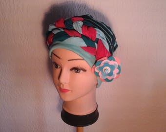 Preformed turban chemo multicolor