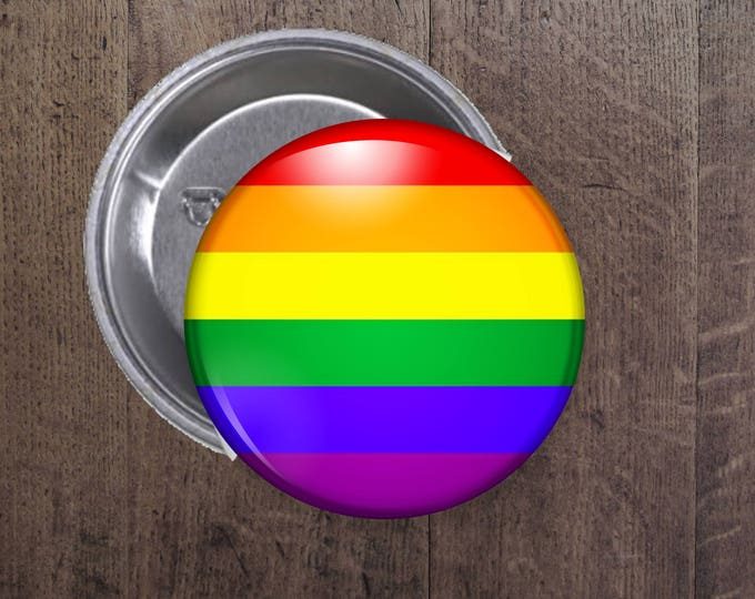 LGBT Pride flag button