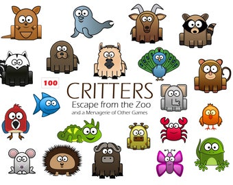 Critters Animal Card Game | Escape from the Zoo | Educational Game