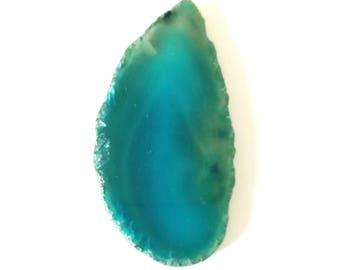 Slice of agate natural stone 70x35mm