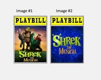 Theater / Show Charm - Playbill Play bill  - Shrek the Musical