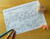Old MacDonald Printable Game  Farm Game  Travel Game  Childrens Games