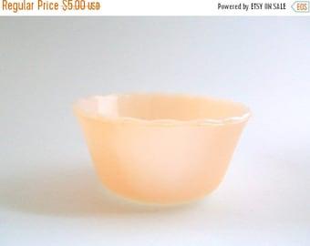 CLEARANCE Fire King Bowl, Peach Custard Bowl, Anchor Hocking, Lustreware Bowl, Peach Glass Bowl, Peach Fire King, Custard Bowl, Small Bowl,