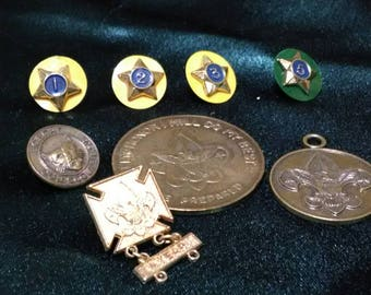 Vintage Boy Scout Pins, Coin, Pendants