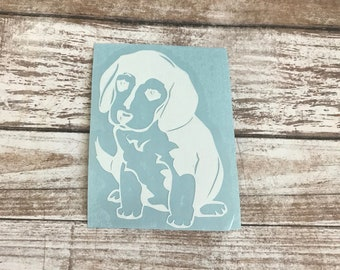 Beagle Dog Animal Vinyl Decal Car Laptop Wine Glass Sticker