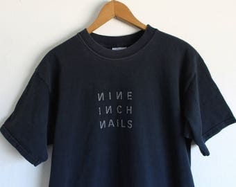 MEDIUM Vintage 1990s Nine Inch Nails BrokenBruised Forgotten Sore (Front and Back) T-Shirt