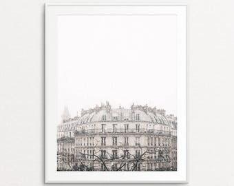 Snowfall in Paris Photo, Paris Photography, Paris Print, Paris Wall Art, Paris Bedroom Decor, Paris Decor, Home Decor, Paris Snowfall