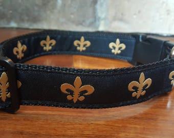 New Orleans Saints Fleur De Lis Dog Collar