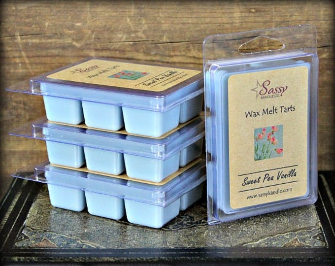 SWEET PEA VANILLA | Wax Melt Tart | Sassy Kandle Co.