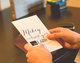 Wedding Day Card / Wedding Card / Card for my wedding day / groom to bride card / bride to groom card / husband card / wife card / love card