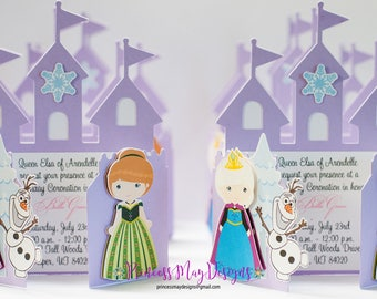 Snow Princesses Castle Party Invitations Castle Birthday Invitations