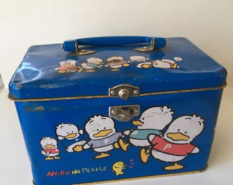 Bad Attitude Ahiru No Pekkle 1993 Vintage Metal Sanrio Box