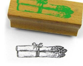 Vintage 1990 Rubber Stamp Asparagus Rubber Stamp Food