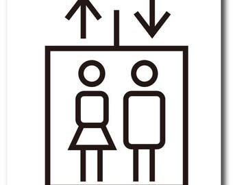 Elevator sign 1pc at USD9.9_Free Shipping!