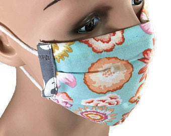 Surgical Face Mask/Bendable Wire Rim/Chemo Mask/RN Accessory/Dust Protector/Washable Mask/Dental Hygienist Mask/Sick Mask/Reusable/Adult