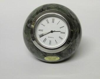 CONNEMARA MARBLE Hand Carved Ball Clock