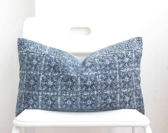 Hmong Batik Indigo Pillow Cover CL10