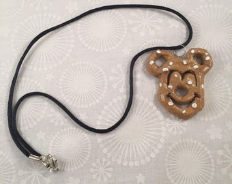 Mickey Pretzel necklace