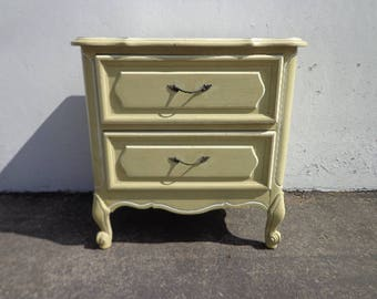 Nightstand Dresser French Provincial Bombe Bachelor Chest Neoclassical Furniture Console Bedroom Console Shabby Chic CUSTOM PAINT AVAIL