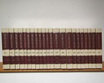 1983 WORLDBOOK Encyclopedia Complete 22 volume set A thru Z , & index ,,
