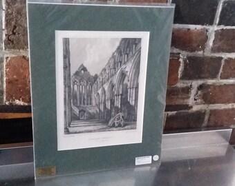 Vintage Print Dunblane Cathedral Stirling Steel Engraving 1896