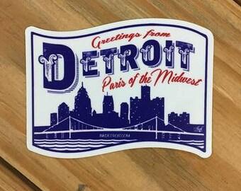 Detroit Paris of The Midwest Sticker