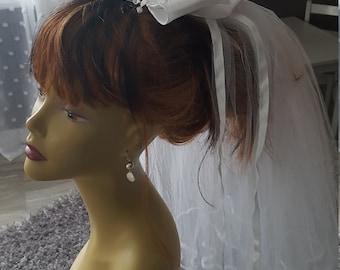 1960's Vintage White Wedding Veil