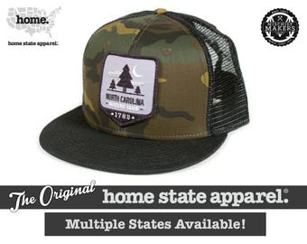 All 50 States Available: Home State Apparel - Nature Club Patch Hat