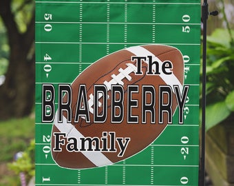 Garden Flag Football Collegiate High School Personalized Name Monogram Family Outdoor Flag