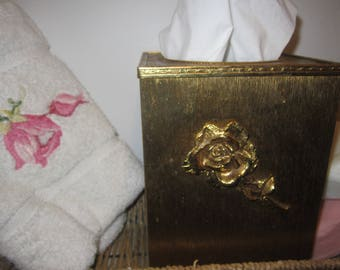 Kleenex Box Cover with Rose Gold Plated Stylebuilt Accessories