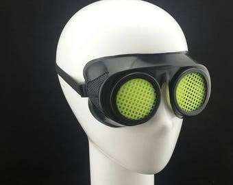 Cyber Rubber Goggles with Yellow Lenses minion goggle cyberpunk aviator sunglasses cosplay glasses cyber goggles goggles punk goggles