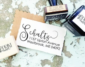 Return Address Stamp, Self Inking Address Stamp, Custom Address Stamp, Personalized Address Stamp- Wedding Stamp, CS-10253