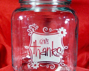 Give Thanks, Blessing, Gratitude Jar