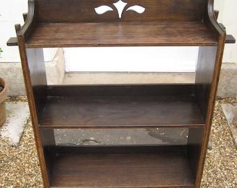 Arts and Crafts Dark Oak Bookcase