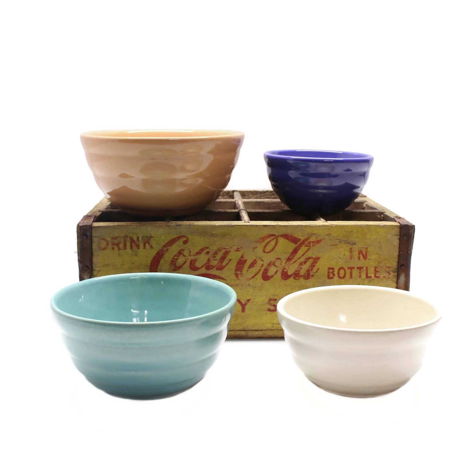 set of 4 nesting bowls mixing bowls ceramic bowls set. Black Bedroom Furniture Sets. Home Design Ideas