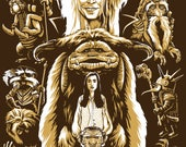 Labyrinth Screen Printed Poster 18x24 David Bowie Jim Henson