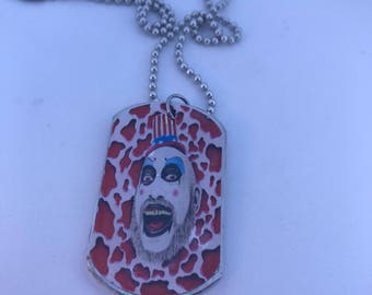 Captain Spaulding Horror Handmade Dog Tag Necklace