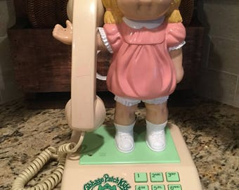 Vintage Coleco Cabbage Patch Kids Telephon Push Button Telephone Model 7911 made in Hong Kong