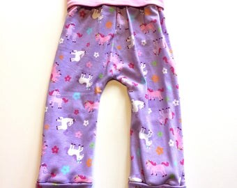 Ponies Maxaloones  (no bum circle)- 1 to 3 years,  ~ Ready to Ship, cloth diaper pants, baby, toddler clothes