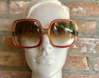 NINA RICCI 60's oversize sunglasses, huge bug eye, red