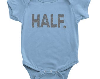 Half Birthday Outfit, Baby Boy 6 Month Bodysuit