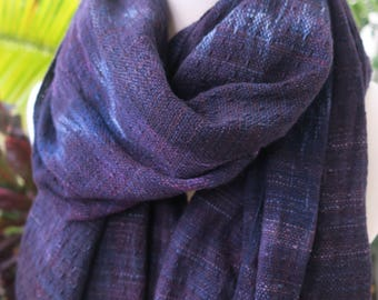 Handyed Handwoven Waterfall Shawl Scarf