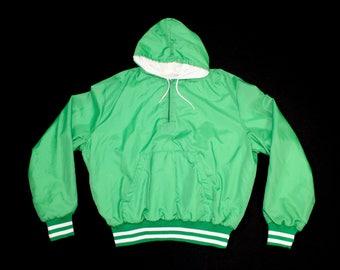 Vintage Nylon Bomber Hoody Jacket